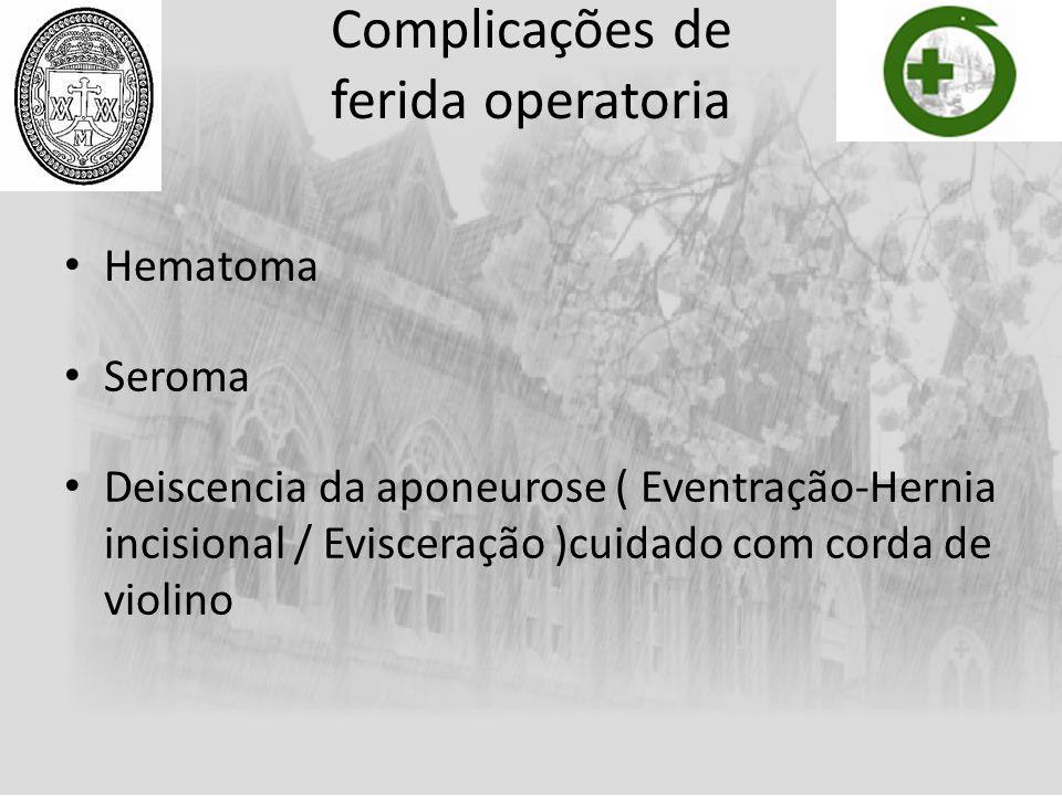 Complicações de ferida operatoria