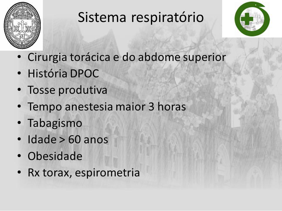 Sistema respiratório Cirurgia torácica e do abdome superior