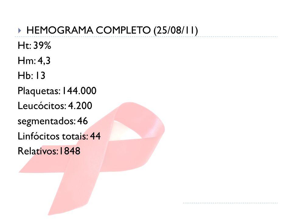 HEMOGRAMA COMPLETO (25/08/11)