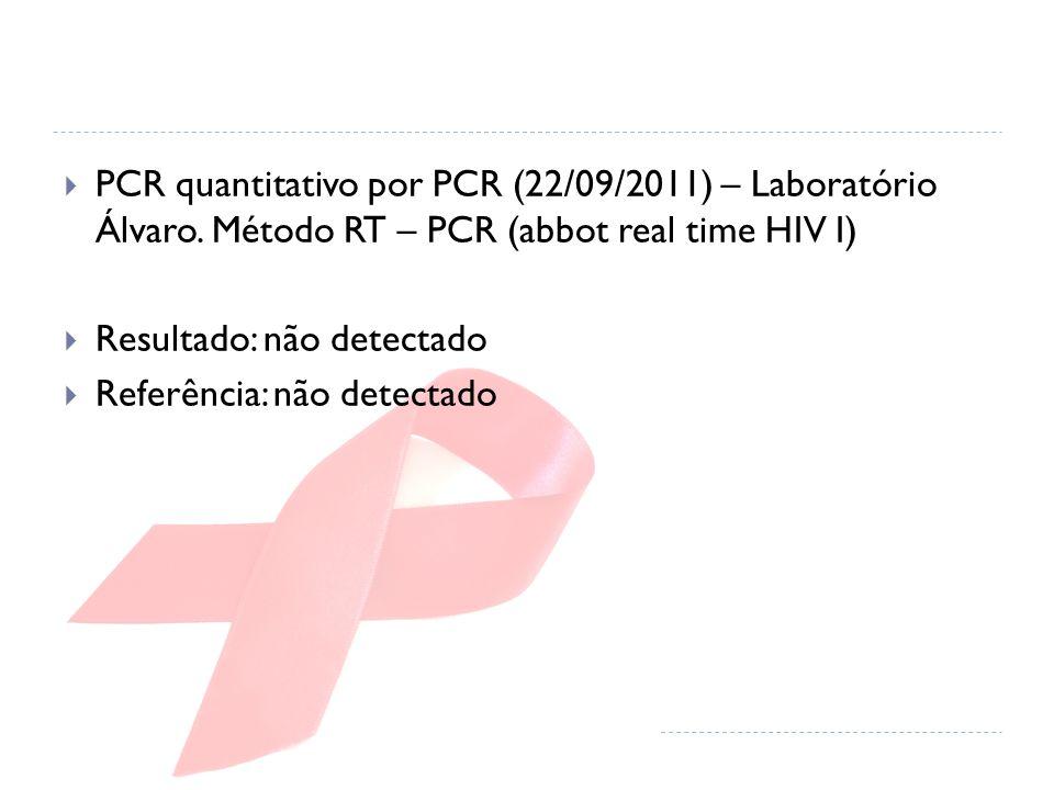 PCR quantitativo por PCR (22/09/2011) – Laboratório Álvaro