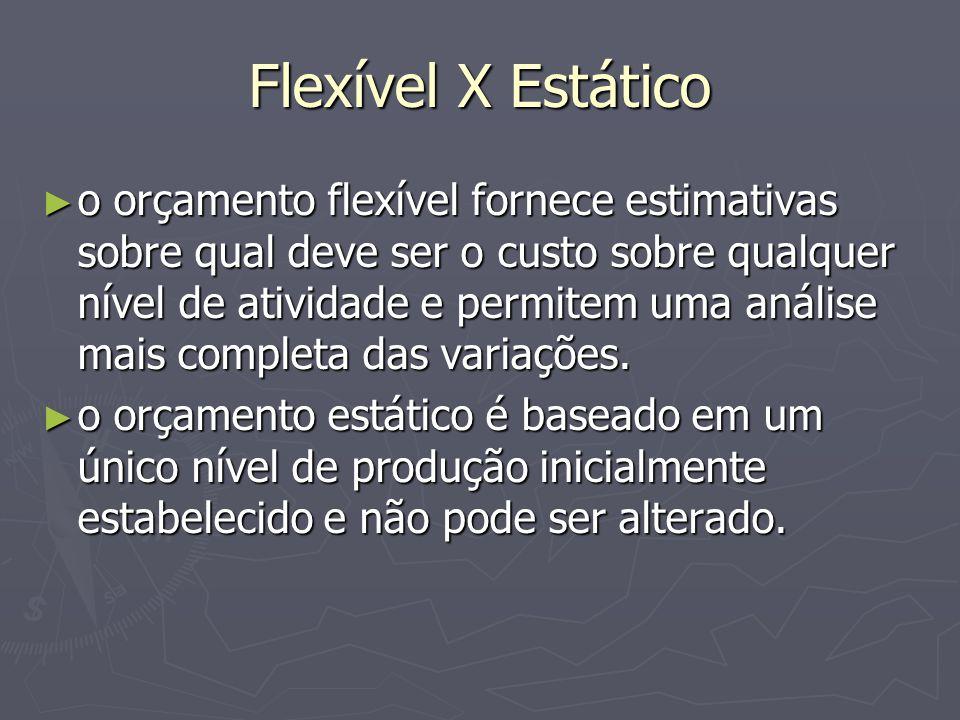 Flexível X Estático
