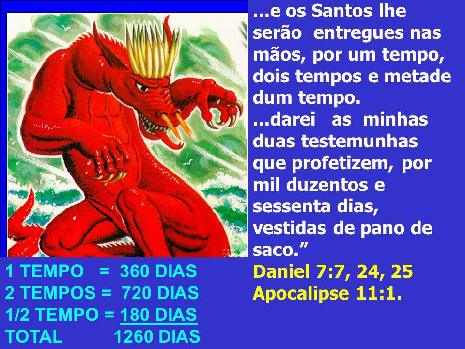 ...e os Santos lhe serão entregues nas mãos, por um tempo, dois tempos e metade dum tempo.