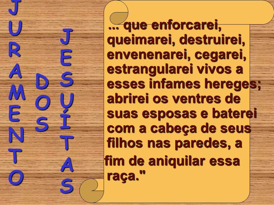 JESUÍTAS JURAMENTO DOS