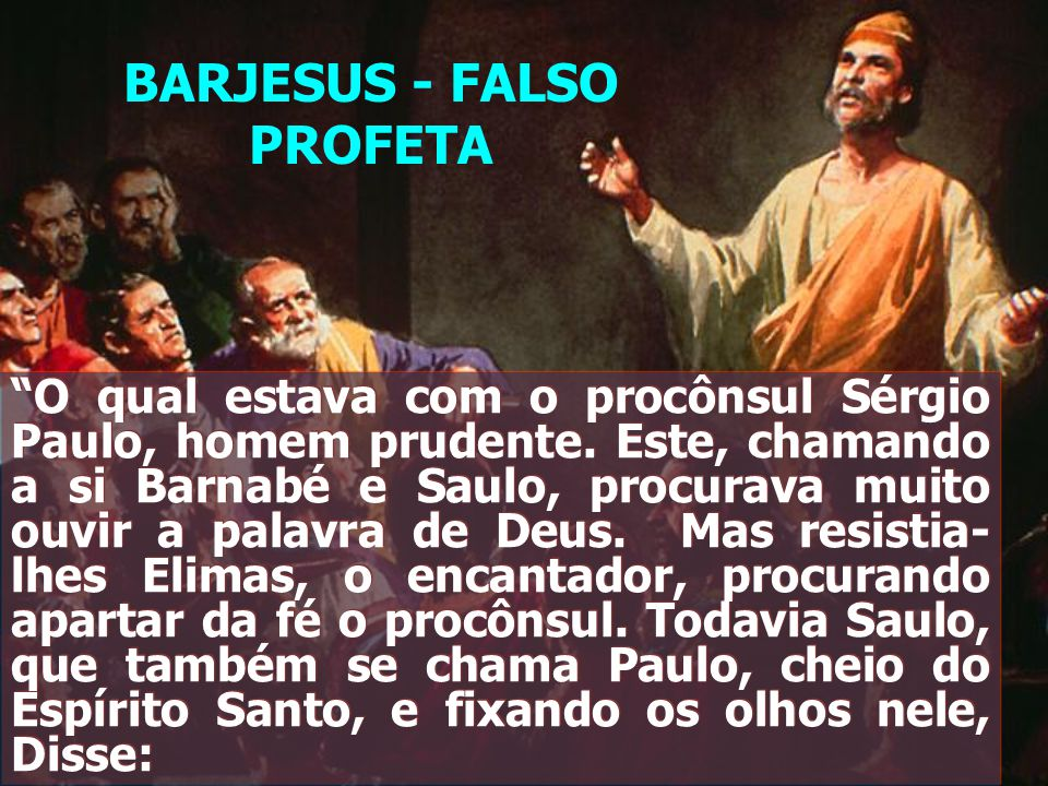 BARJESUS - FALSO PROFETA