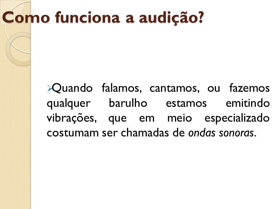 Como funciona a audição
