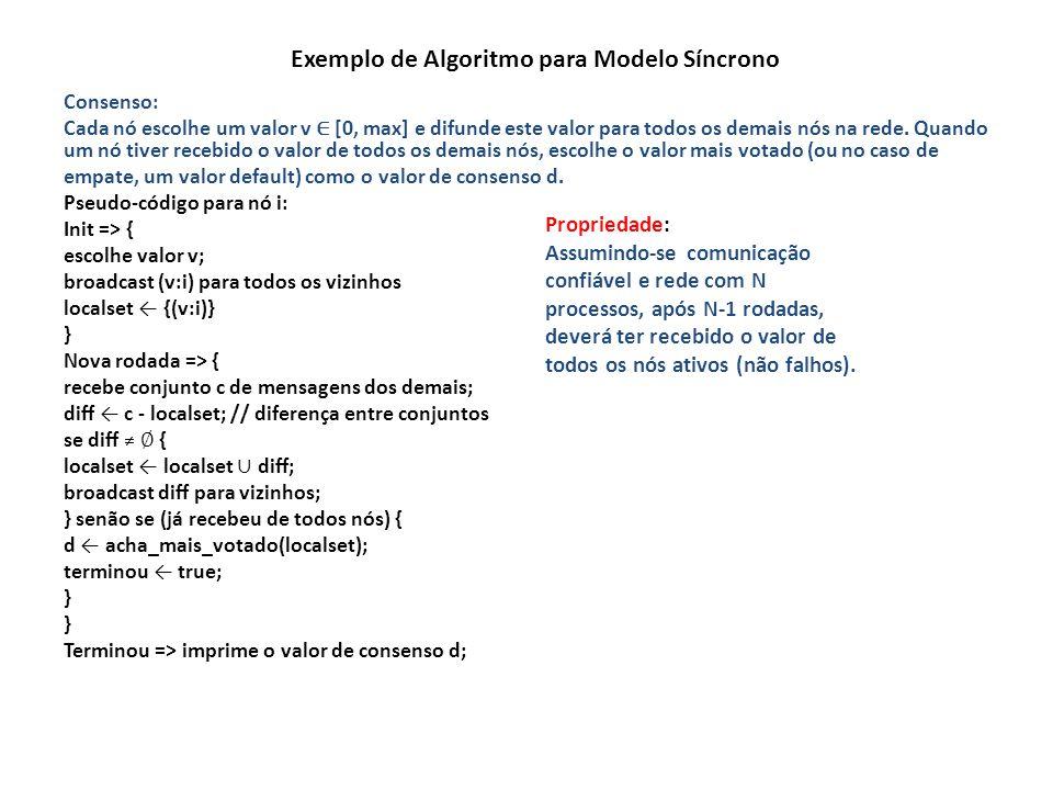 Exemplo de Algoritmo para Modelo Síncrono