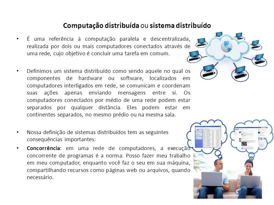Computação distribuída ou sistema distribuído