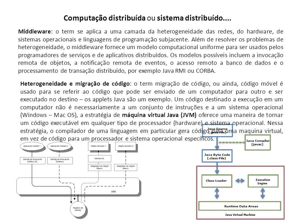 Computação distribuída ou sistema distribuído....
