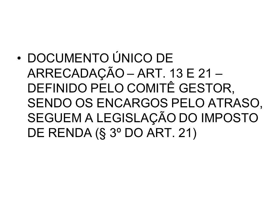 DOCUMENTO ÚNICO DE ARRECADAÇÃO – ART