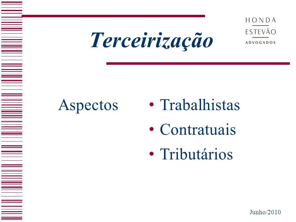 Terceirização Aspectos Trabalhistas Contratuais Tributários Junho/2010