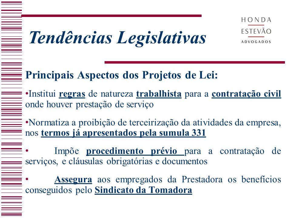 Tendências Legislativas