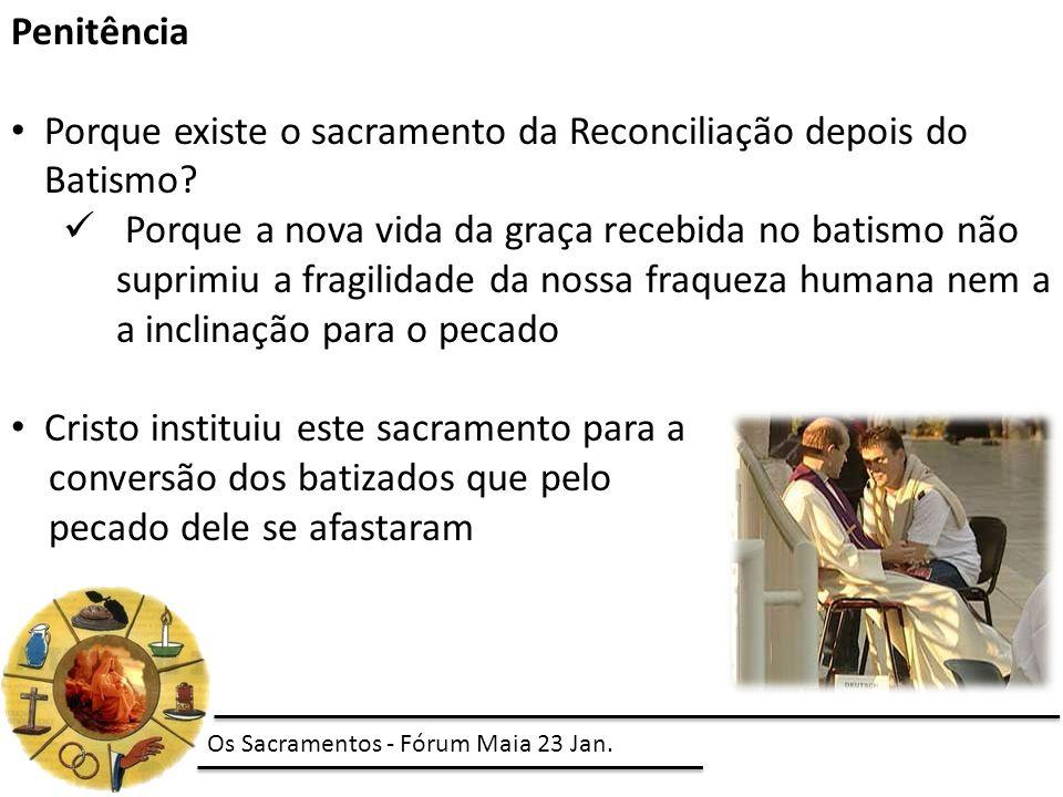 Porque existe o sacramento da Reconciliação depois do Batismo