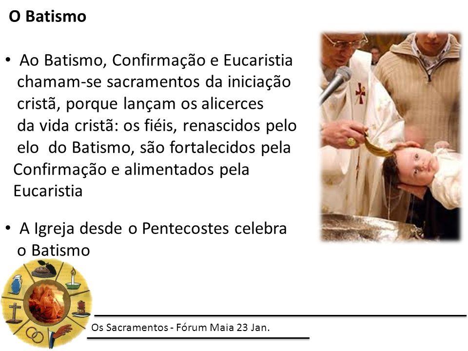 Ao Batismo, Confirmação e Eucaristia