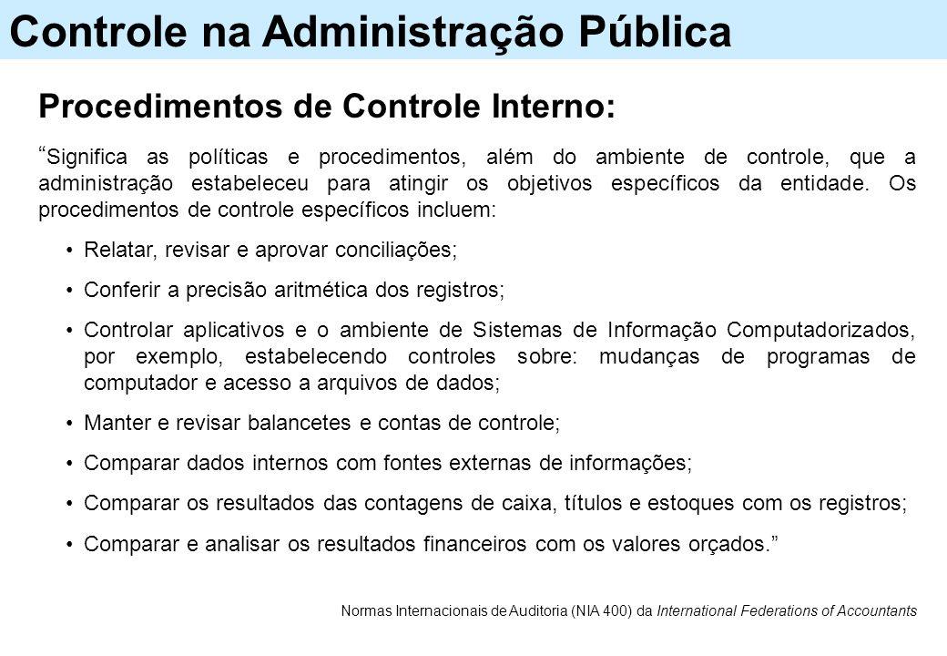 Normas Internacionais de Auditoria (N