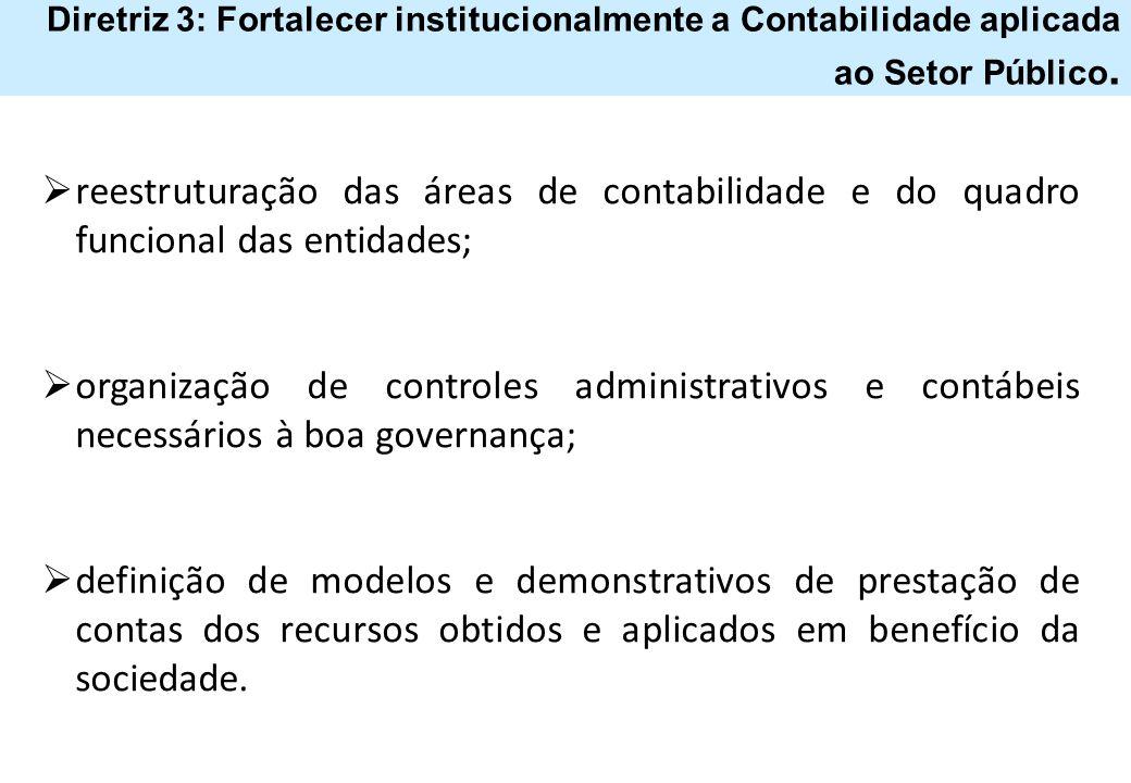 Diretriz 3: Fortalecer institucionalmente a Contabilidade aplicada ao Setor Público.