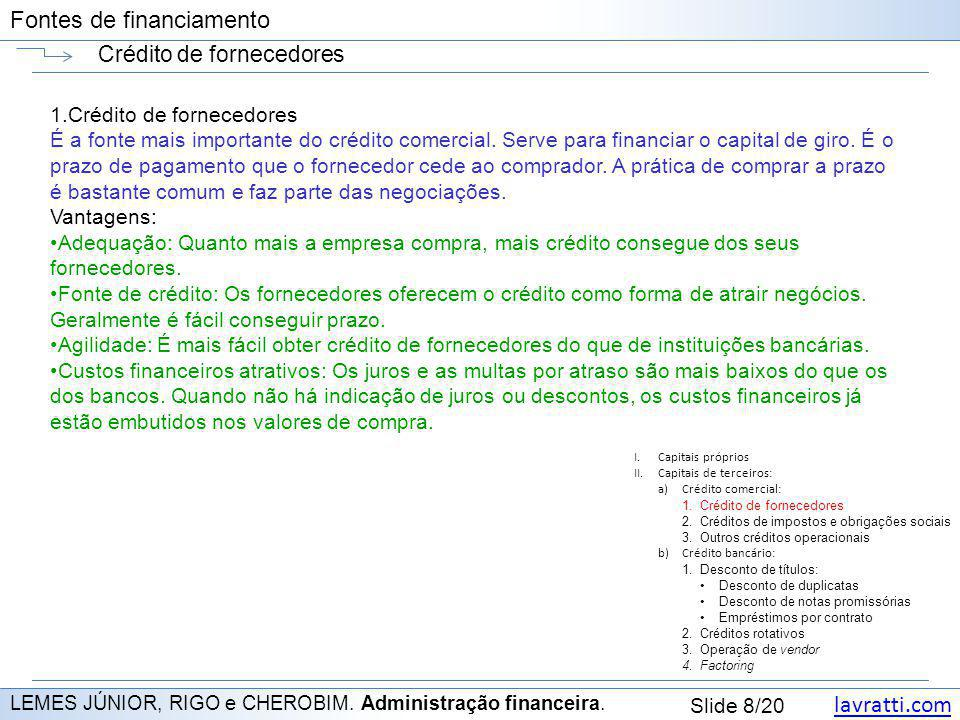 Crédito de fornecedores