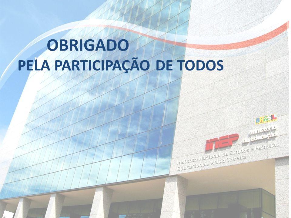 OBRIGADO PELA PARTICIPAÇÃO DE TODOS