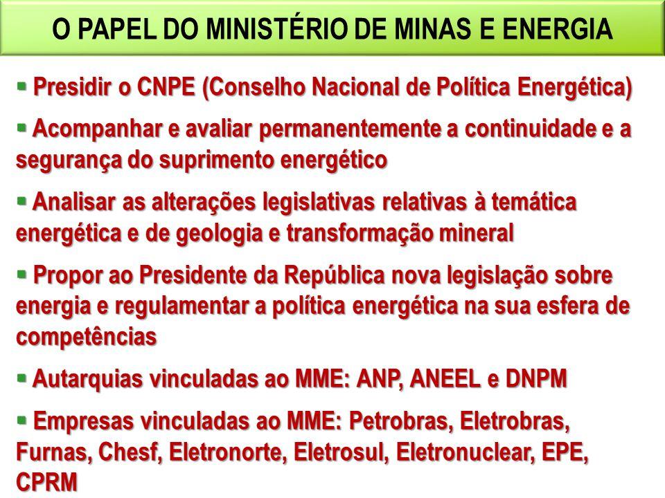 O PAPEL DO MINISTÉRIO DE MINAS E ENERGIA
