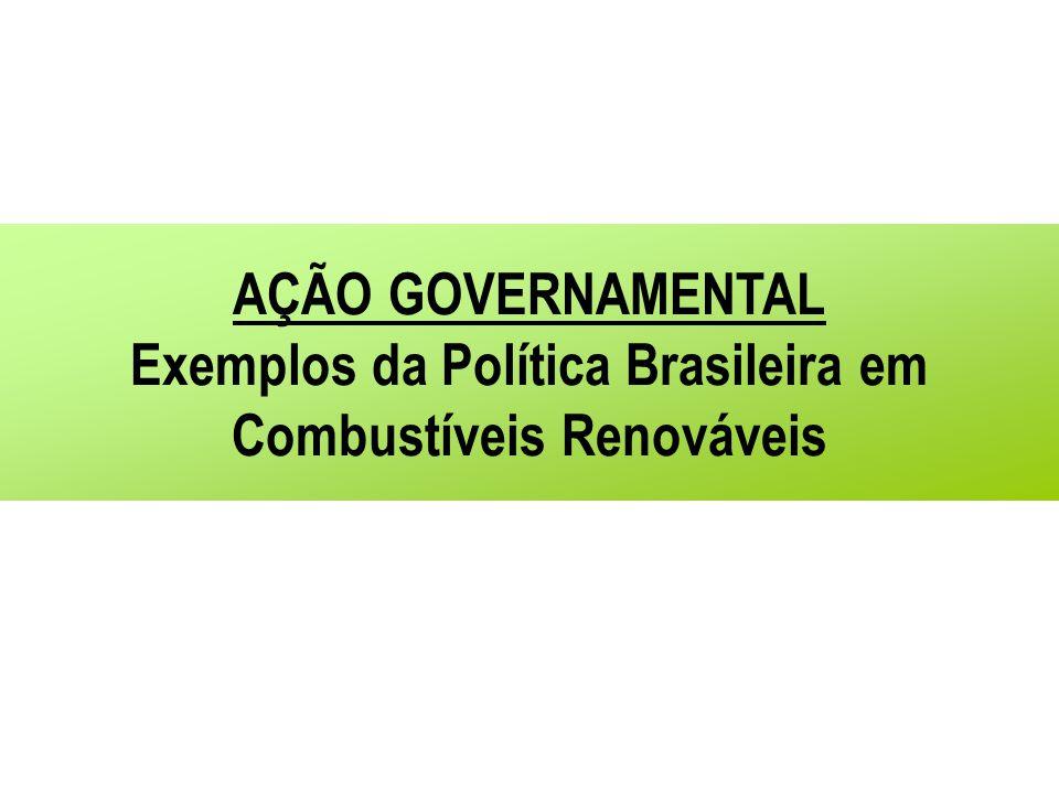 Exemplos da Política Brasileira em Combustíveis Renováveis