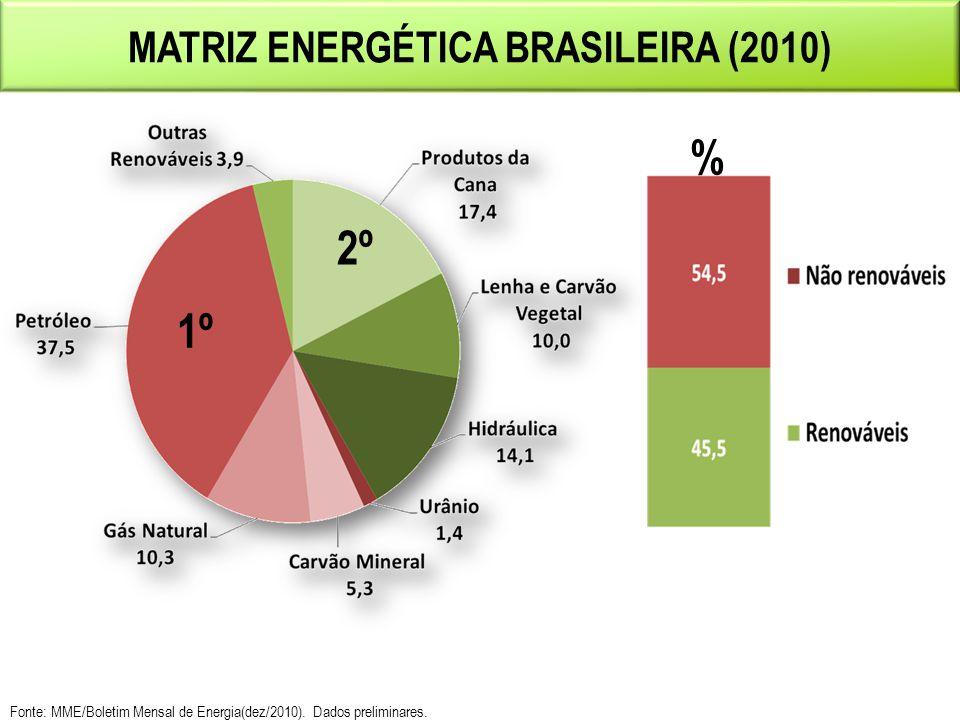 Matriz Energética BRASILEIRA (2010)