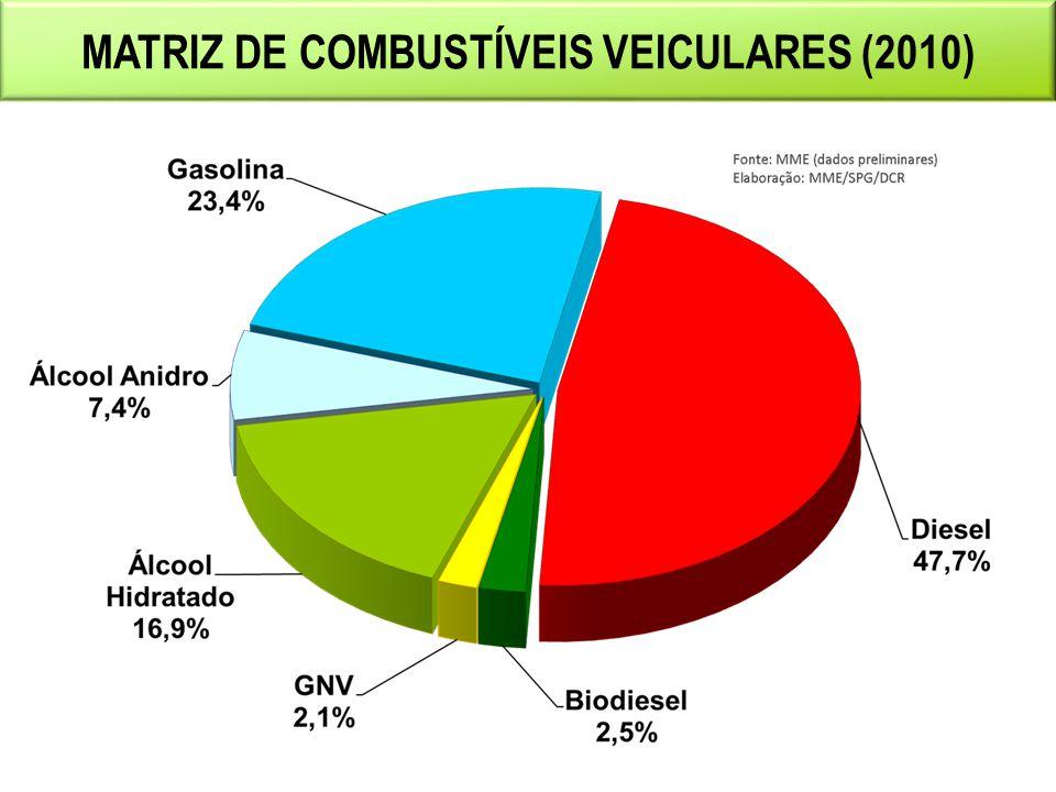 MATRIZ DE COMBUSTÍVEIS VEICULARES (2010)