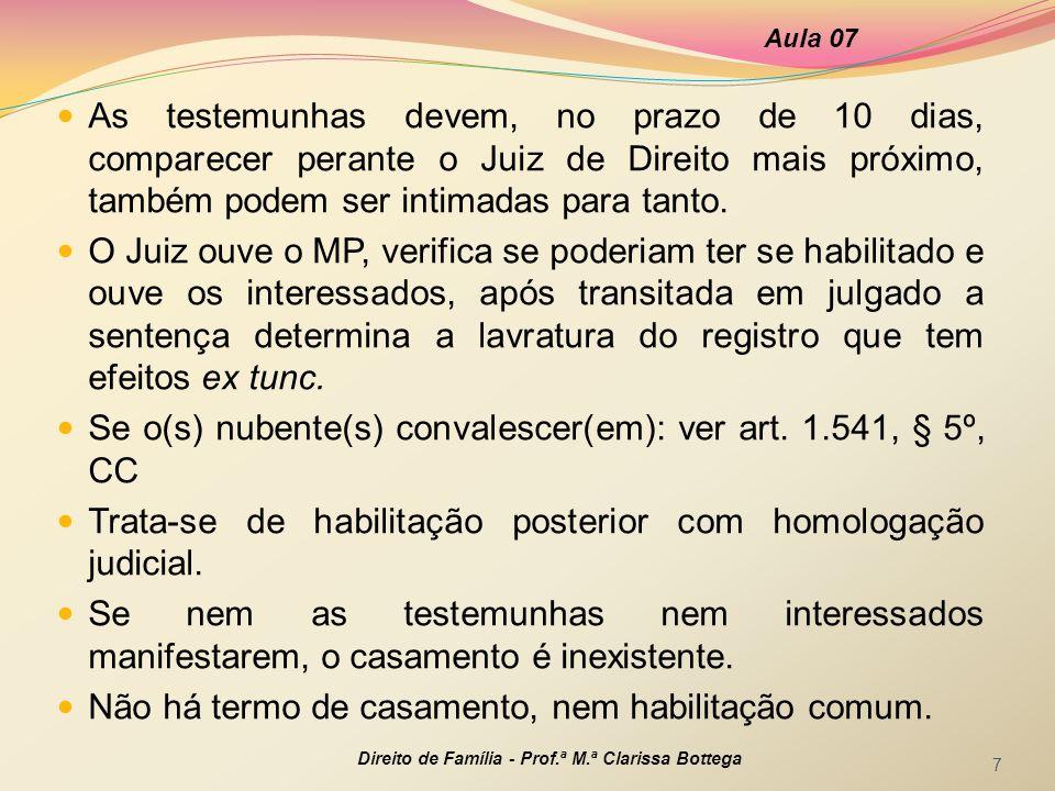 Se o(s) nubente(s) convalescer(em): ver art. 1.541, § 5º, CC