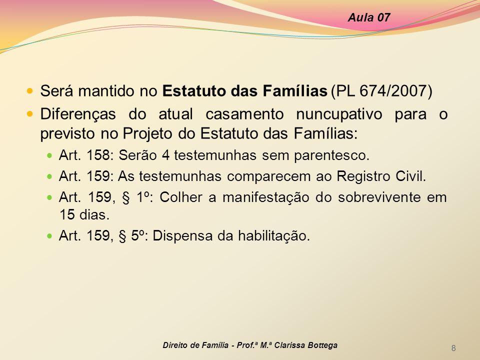Será mantido no Estatuto das Famílias (PL 674/2007)