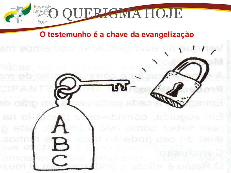 O QUERIGMA HOJE O testemunho é a chave da evangelização