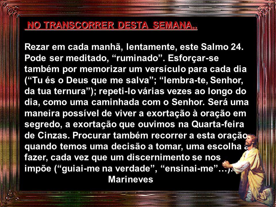NO TRANSCORRER DESTA SEMANA..