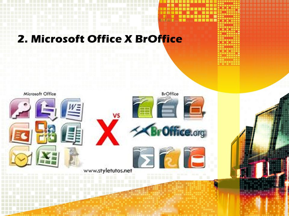 2. Microsoft Office X BrOffice