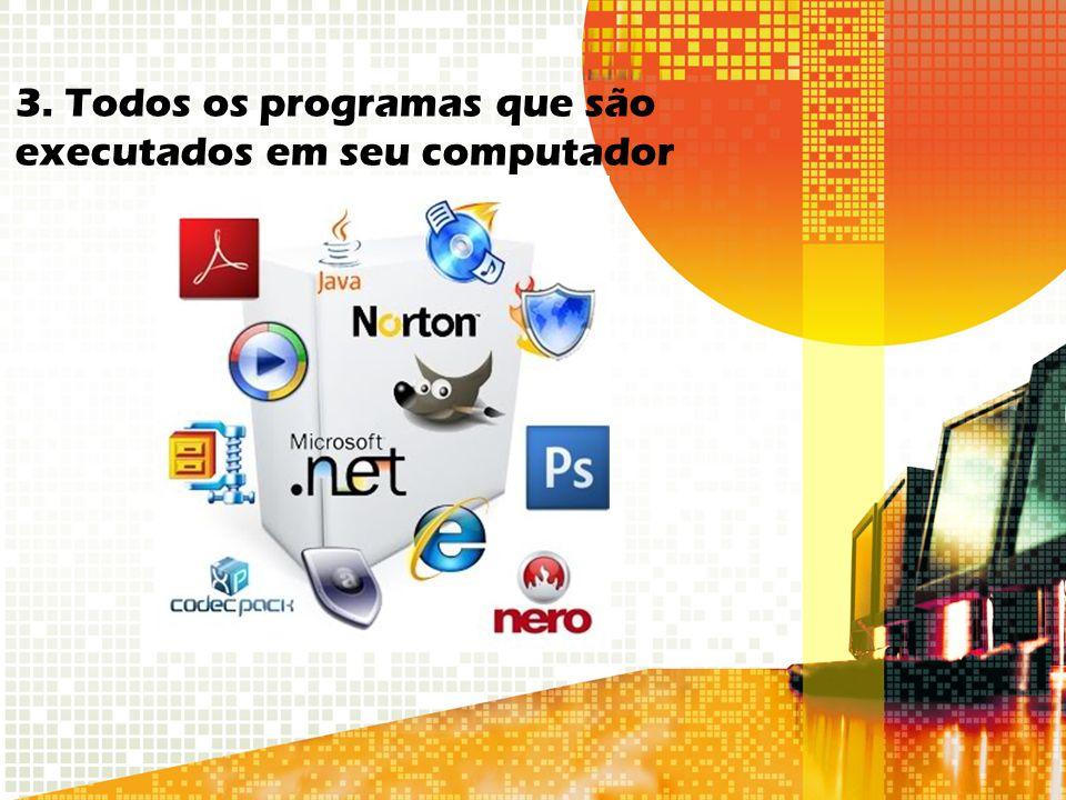 3. Todos os programas que são executados em seu computador