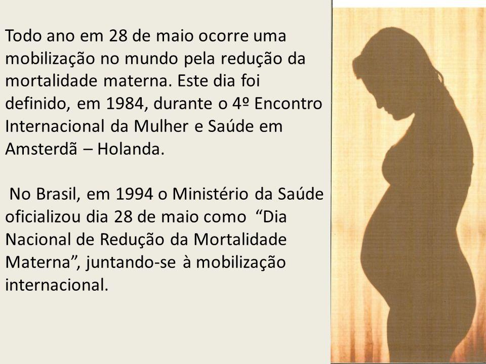 Todo ano em 28 de maio ocorre uma mobilização no mundo pela redução da mortalidade materna.