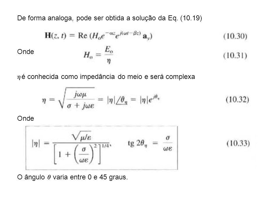 De forma analoga, pode ser obtida a solução da Eq. (10.19)