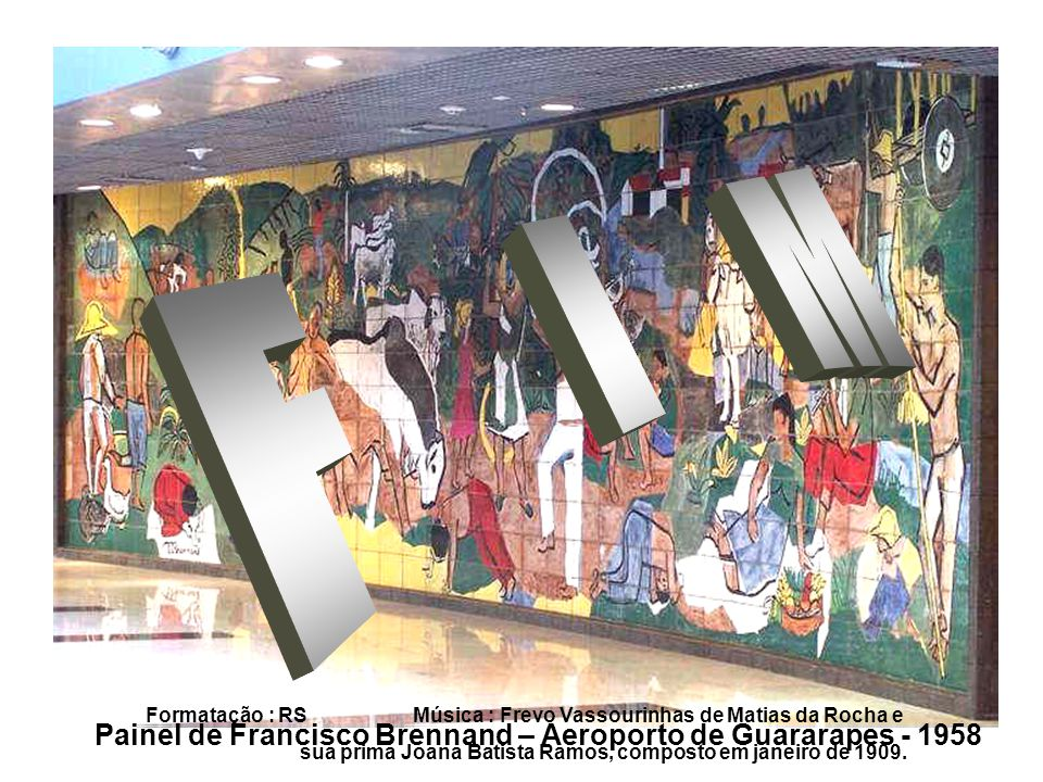 F I M Painel de Francisco Brennand – Aeroporto de Guararapes - 1958