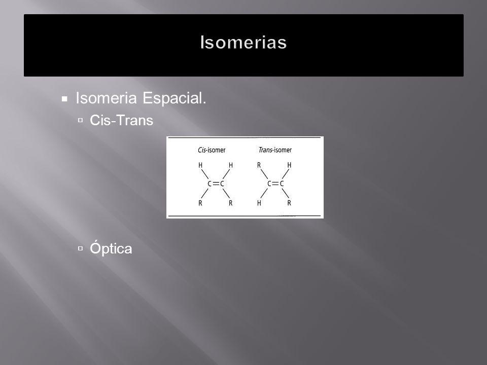 Isomerias Isomeria Espacial. Cis-Trans Óptica