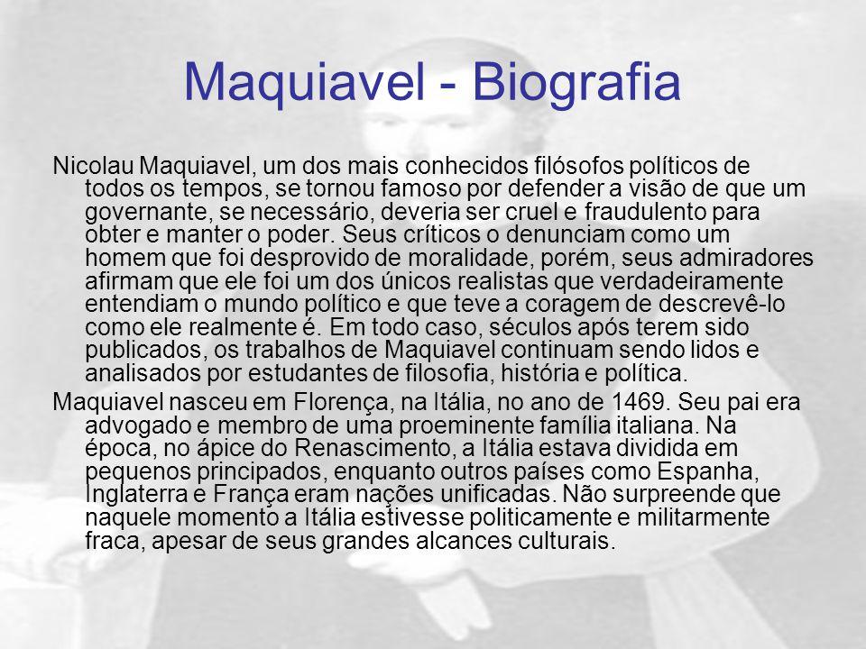 Maquiavel - Biografia