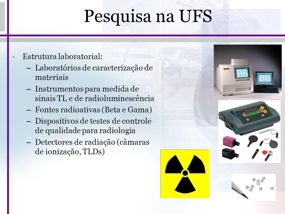 Pesquisa na UFS Estrutura laboratorial:
