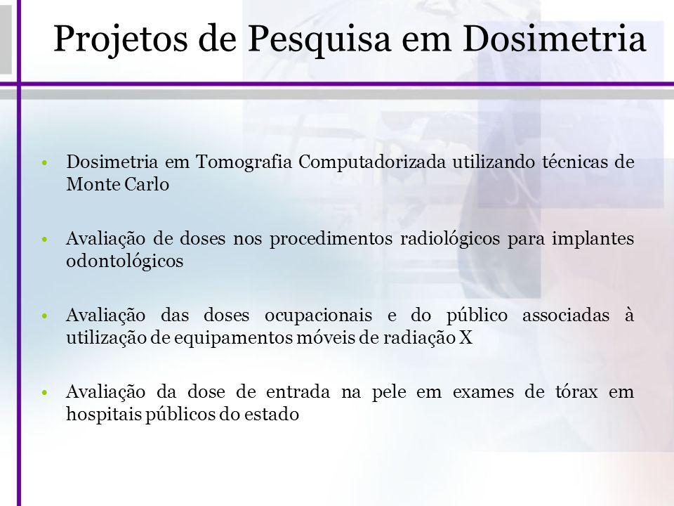 Projetos de Pesquisa em Dosimetria