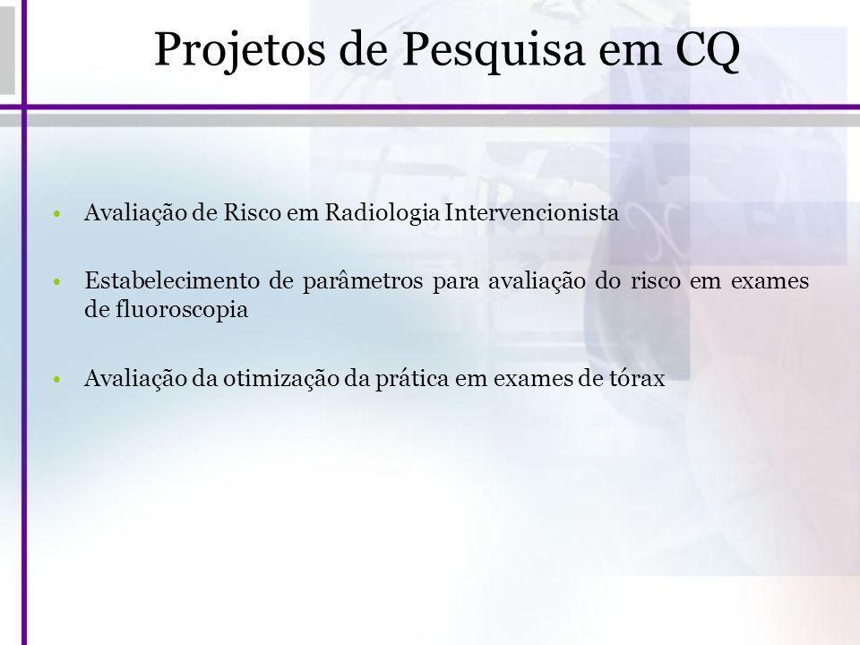 Projetos de Pesquisa em CQ