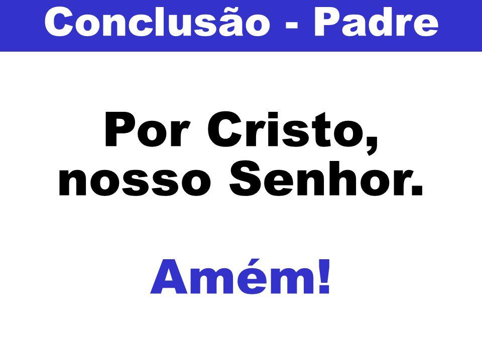 Conclusão - Padre Por Cristo, nosso Senhor. Amém!