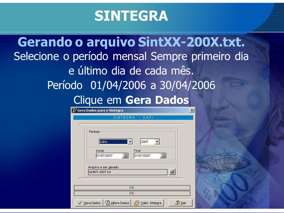 Gerando o arquivo SintXX-200X.txt.