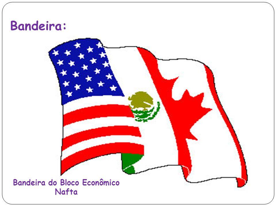 Bandeira do Bloco Econômico Nafta