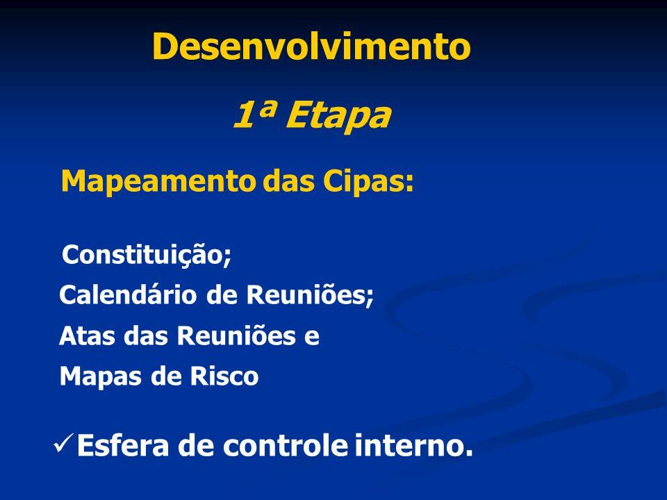 Desenvolvimento 1ª Etapa Mapeamento das Cipas: