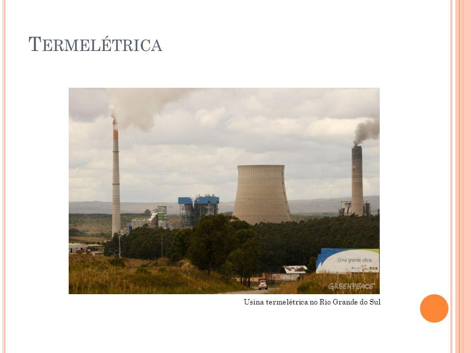 Termelétrica Usina termelétrica no Rio Grande do Sul