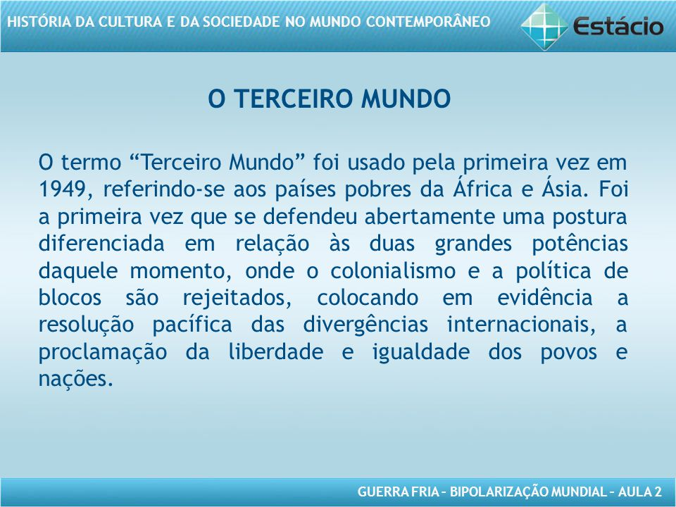 O TERCEIRO MUNDO