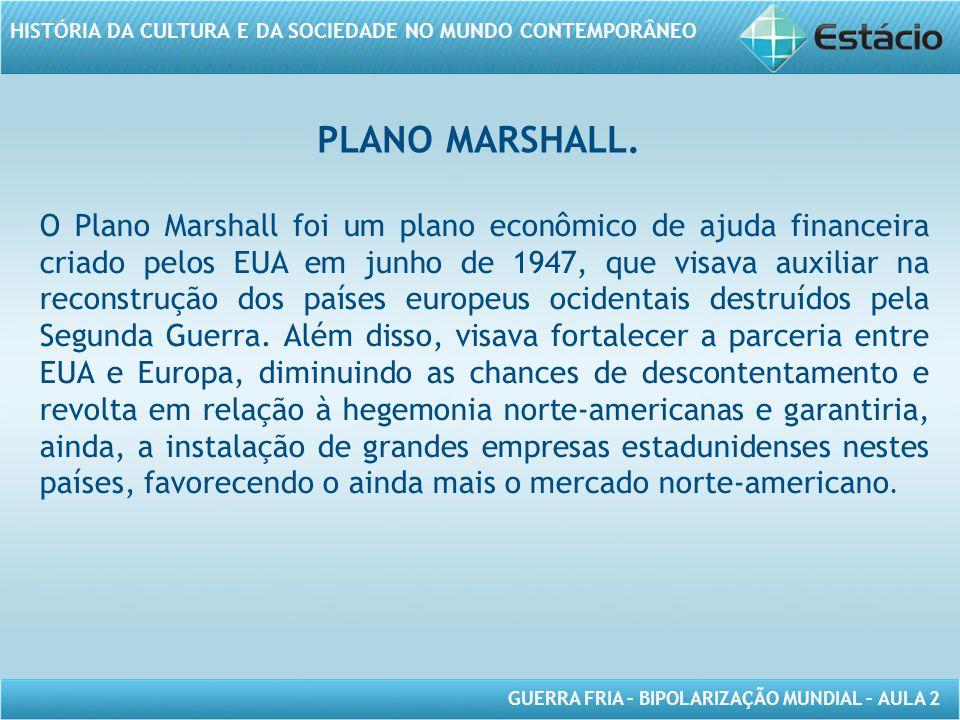 PLANO MARSHALL.