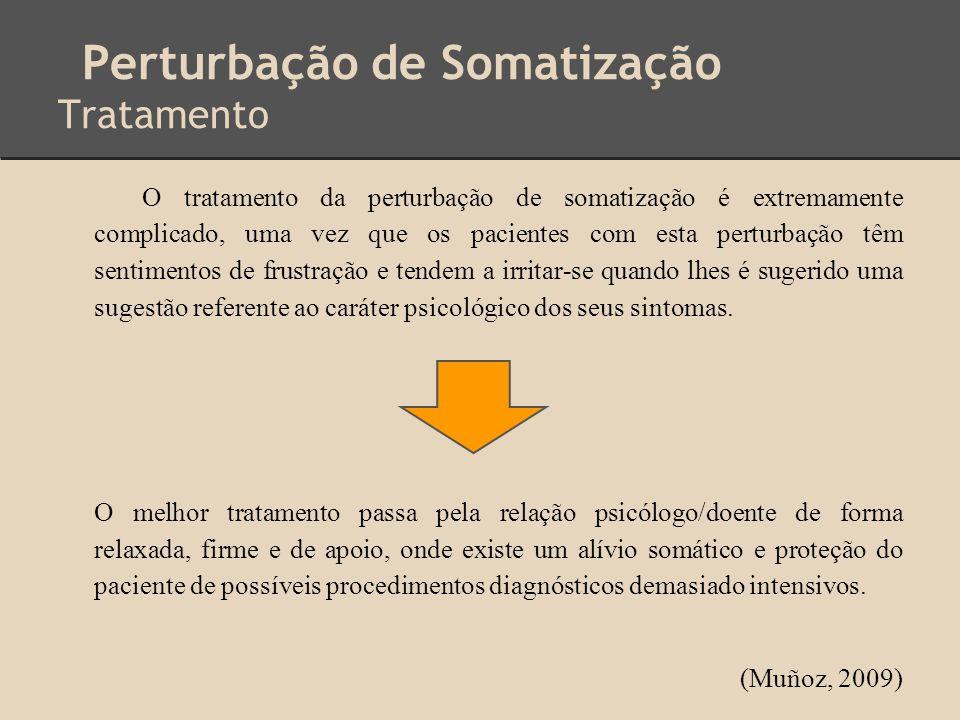 Perturbação de Somatização Tratamento