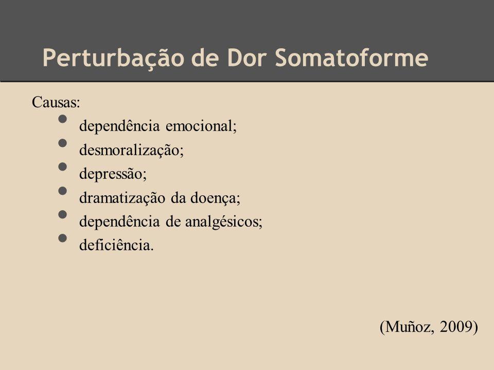 Perturbação de Dor Somatoforme