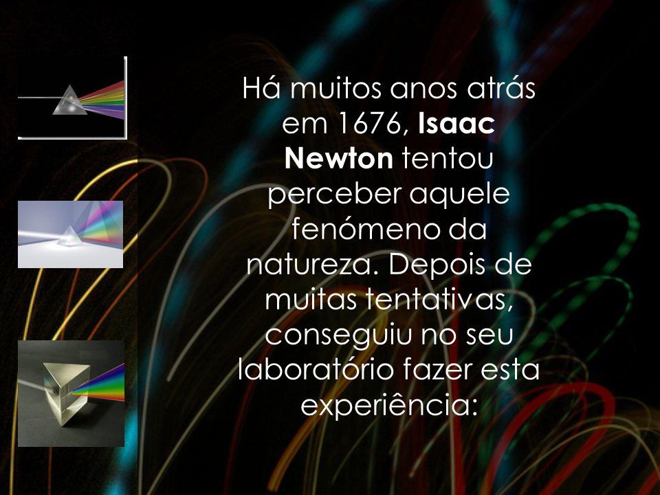 Há muitos anos atrás em 1676, Isaac Newton tentou perceber aquele fenómeno da natureza.