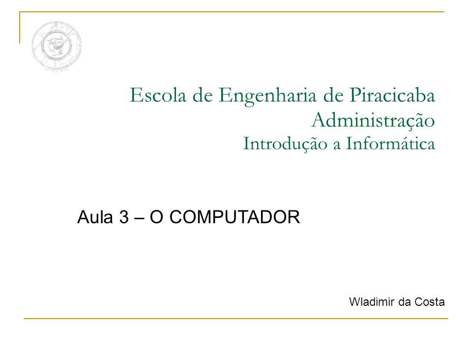 Escola de Engenharia de Piracicaba Administração Introdução a Informática